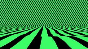 Όμορφη σκηνή με το πράσινο χρώμα που κυματίζουν στο διαγώνιο τοίχο απόθεμα βίντεο