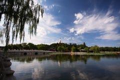 Όμορφη σκηνή του Πεκίνου Στοκ Φωτογραφίες