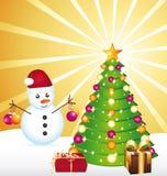 όμορφη σκηνή Χριστουγέννων ελεύθερη απεικόνιση δικαιώματος
