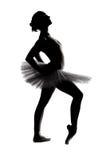 όμορφη σκιαγραφία σκιών ballerina Στοκ Εικόνες