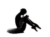 όμορφη σκιαγραφία σκιών ballerina 8 Στοκ Φωτογραφίες