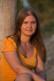 Όμορφη στήριξη κοριτσιών Στοκ φωτογραφία με δικαίωμα ελεύθερης χρήσης