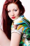 όμορφη στενή επάνω γυναίκα Στοκ φωτογραφία με δικαίωμα ελεύθερης χρήσης