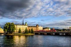 Όμορφη Στοκχόλμη, Sweeden Στοκ Εικόνα