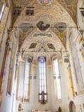 Όμορφη στυλ ροκοκό εσωτερική άποψη της δομινικανής εκκλησίας στο Μπολτζάνο, Ιταλία στοκ εικόνα με δικαίωμα ελεύθερης χρήσης