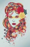 όμορφη συρμένη γυναίκα απε& Στοκ φωτογραφία με δικαίωμα ελεύθερης χρήσης