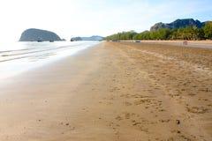 Όμορφη σύσταση κυμάτων άμμου Στοκ Φωτογραφία