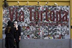 Όμορφη τέχνη τοίχων στο Μιλάνο μέσα μέσω Tortona Στοκ Φωτογραφίες