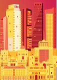 Όμορφη τέχνη χρώματος πόλεων της Μαδρίτης Στοκ εικόνες με δικαίωμα ελεύθερης χρήσης