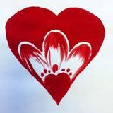 Όμορφη ταπετσαρία χεριών διακοσμήσεων σύστασης αγάπης ζευγών καρδιών υποβάθρου Watercolor αφηρημένη Στοκ φωτογραφία με δικαίωμα ελεύθερης χρήσης