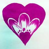 Όμορφη ταπετσαρία χεριών διακοσμήσεων σύστασης αγάπης ζευγών καρδιών υποβάθρου Watercolor αφηρημένη Στοκ φωτογραφίες με δικαίωμα ελεύθερης χρήσης