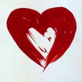 Όμορφη ταπετσαρία χεριών διακοσμήσεων σύστασης αγάπης ζευγών καρδιών υποβάθρου Watercolor αφηρημένη Στοκ Εικόνες