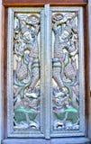 Όμορφη ταϊλανδική πύλη ναών Στοκ Εικόνα