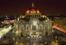 Όμορφη τοπ άποψη Bellas artes τη νύχτα, Πόλη του Μεξικού, Μεξικό Στοκ φωτογραφία με δικαίωμα ελεύθερης χρήσης