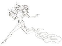 όμορφη τρέχοντας γυναίκα Στοκ φωτογραφία με δικαίωμα ελεύθερης χρήσης