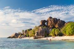 Όμορφη τροπική παραλία δ ` Argent πηγής Anse, νησί Λα Digue, Σεϋχέλλες Στοκ φωτογραφίες με δικαίωμα ελεύθερης χρήσης