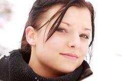 όμορφη υπαίθρια γυναίκα χι στοκ εικόνα με δικαίωμα ελεύθερης χρήσης