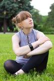 όμορφη υπαίθρια γυναίκα Στοκ φωτογραφία με δικαίωμα ελεύθερης χρήσης