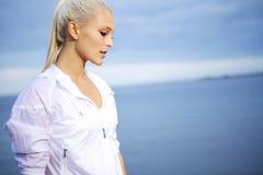 Όμορφη φίλαθλη γυναίκα Στοκ Εικόνες