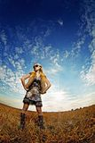 όμορφη φυσική γυναίκα πορ&ta Στοκ εικόνα με δικαίωμα ελεύθερης χρήσης