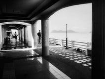 Όμορφη φωτογραφία στη σκιά στην αποβάθρα Suratthani Ταϊλάνδη Στοκ εικόνα με δικαίωμα ελεύθερης χρήσης