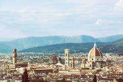 Όμορφη Φλωρεντία, Τοσκάνη, Ιταλία, αναδρομικό φίλτρο φωτογραφιών Στοκ Φωτογραφία