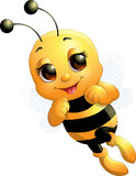 Όμορφη χαριτωμένη μέλισσα Στοκ Φωτογραφίες