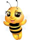 Όμορφη χαριτωμένη μέλισσα Στοκ φωτογραφία με δικαίωμα ελεύθερης χρήσης