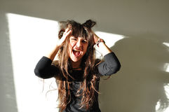 όμορφη χαρούμενη γελώντας  Στοκ φωτογραφία με δικαίωμα ελεύθερης χρήσης