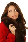 όμορφη χειμερινή γυναίκα μό&d Στοκ εικόνα με δικαίωμα ελεύθερης χρήσης