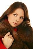 όμορφη χειμερινή γυναίκα μό&d Στοκ Φωτογραφία