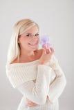 όμορφη χειμερινή γυναίκα χ&r Στοκ εικόνα με δικαίωμα ελεύθερης χρήσης