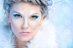 Όμορφη χειμερινή γυναίκα στοκ φωτογραφία