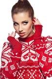 όμορφη χειμερινή γυναίκα Στοκ Εικόνες