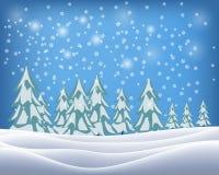 Όμορφη χειμερινή landscape επίσης corel σύρετε το διάνυσμα απεικόνισης Στοκ Εικόνες