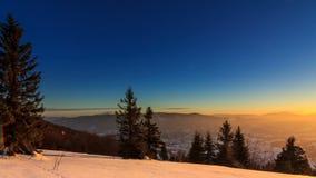 Όμορφη χειμερινή landscape φιλμ μικρού μήκους
