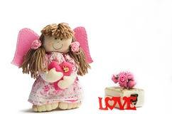 Όμορφη χειροποίητη κούκλα Στοκ Φωτογραφία