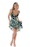 όμορφη χορεύοντας γυναίκα μόδας Στοκ Φωτογραφίες