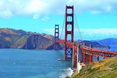 Όμορφη χρυσή γέφυρα πυλών στοκ φωτογραφία με δικαίωμα ελεύθερης χρήσης