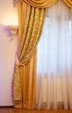 Όμορφη χρυσή κουρτίνα Στοκ Εικόνες