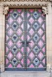 Όμορφη χρωματισμένη πόρτα στοκ φωτογραφίες