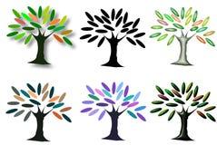 Όμορφη ψηφιακή γραφική τέχνη δέντρων Στοκ Εικόνες