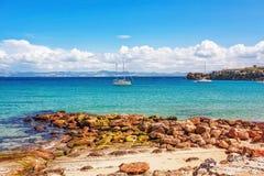 όμορφη ωκεάνια όψη παραλιών Στοκ εικόνα με δικαίωμα ελεύθερης χρήσης