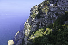 όμορφη όψη ακτών της Αμάλφης στοκ εικόνες