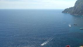 όμορφη όψη νησιών capri απόθεμα βίντεο