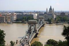 όμορφη όψη της Βουδαπέστης Στοκ Εικόνα