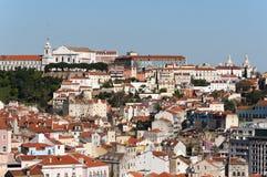 Όμορφη όψη της Λισσαβώνας Στοκ εικόνα με δικαίωμα ελεύθερης χρήσης