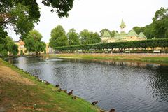 όμορφη όψη τοπίων Ουψάλα, Σουηδία, Ευρώπη στοκ φωτογραφία με δικαίωμα ελεύθερης χρήσης