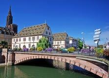 όμορφη όψη του Στρασβούργ&omic Στοκ Εικόνες