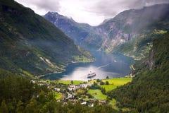 όμορφη όψη φιορδ Στοκ φωτογραφία με δικαίωμα ελεύθερης χρήσης